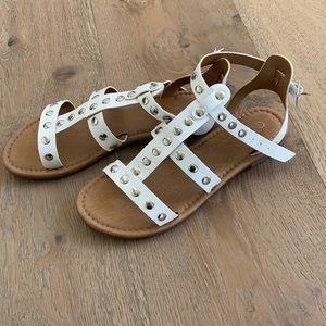 Abound Gladiator White Sandals